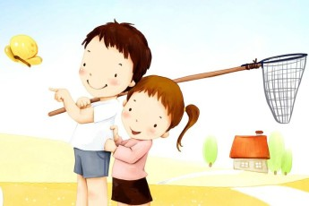 cartoon_lovely_children_vector_2968_4