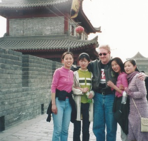 Making friends on Xi'an's city wall